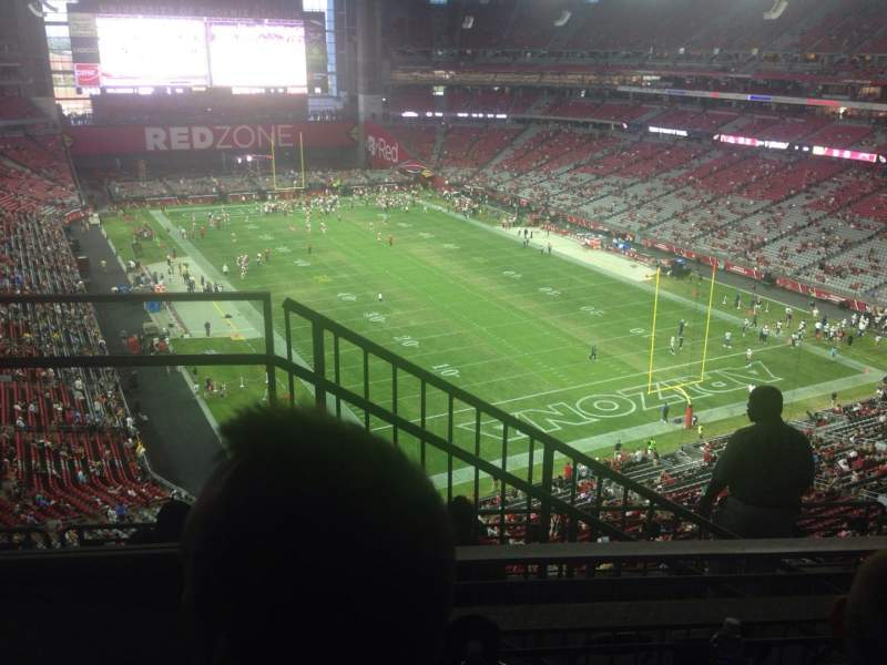 Seating view for University of Phoenix Stadium Section 432 Row 2 Seat 9