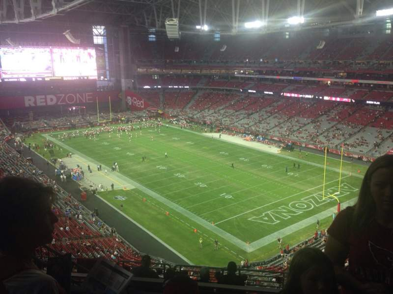 Seating view for University of Phoenix Stadium Section 434 Row 4 Seat 16
