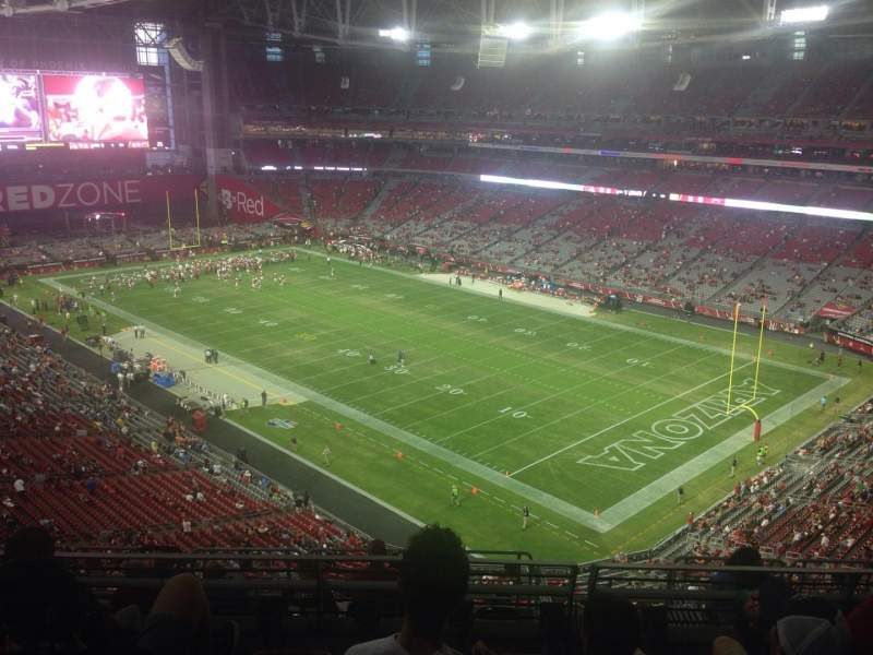 Seating view for University of Phoenix Stadium Section 435 Row 5 Seat 13