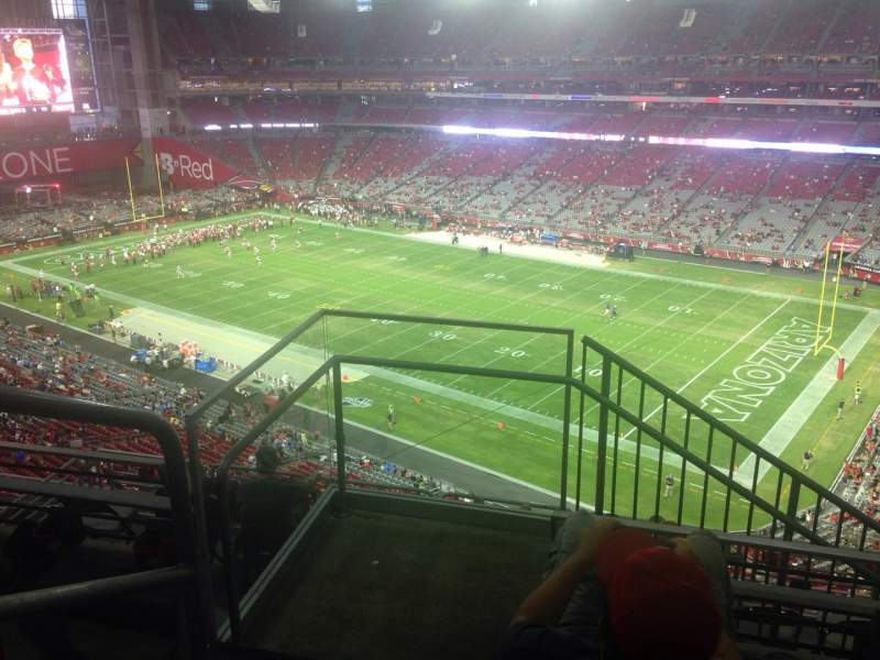 Seating view for University of Phoenix Stadium Section 436 Row 3 Seat 22