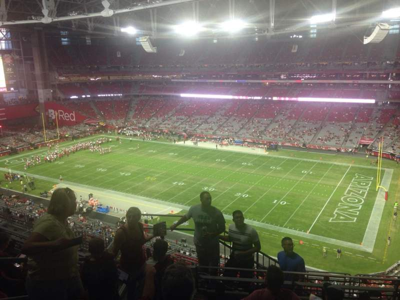 Seating view for University of Phoenix Stadium Section 437 Row 6 Seat 20