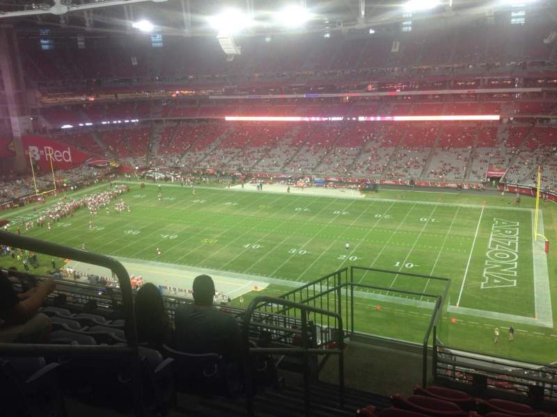 Seating view for University of Phoenix Stadium Section 438 Row 6 Seat 13
