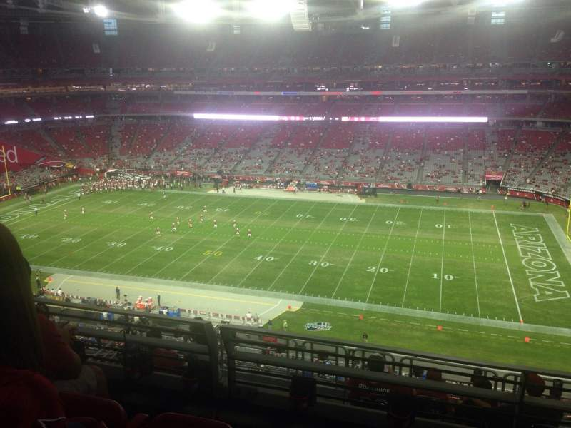 Seating view for University of Phoenix Stadium Section 439 Row 3 Seat 7