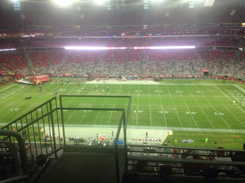 Seating view for University of Phoenix Stadium Section 442 Row 3 Seat 18