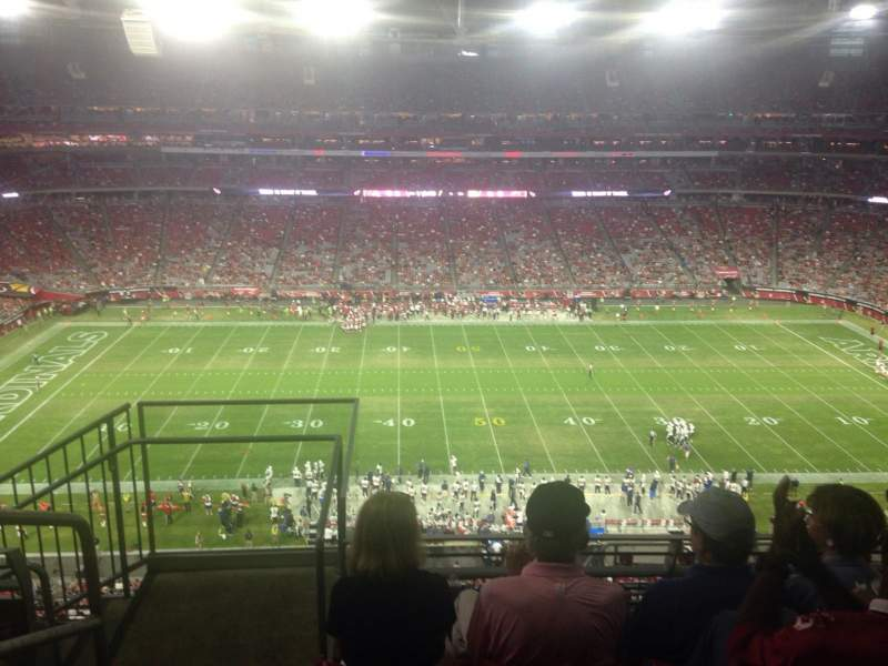 Seating view for University of Phoenix Stadium Section 444 Row 4 Seat 18