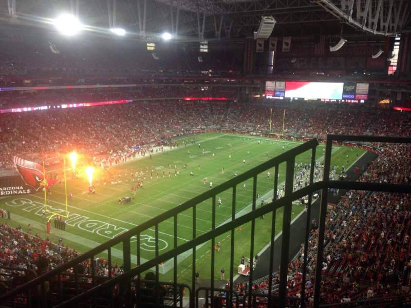 Seating view for University of Phoenix Stadium Section 454 Row 1 Seat 1
