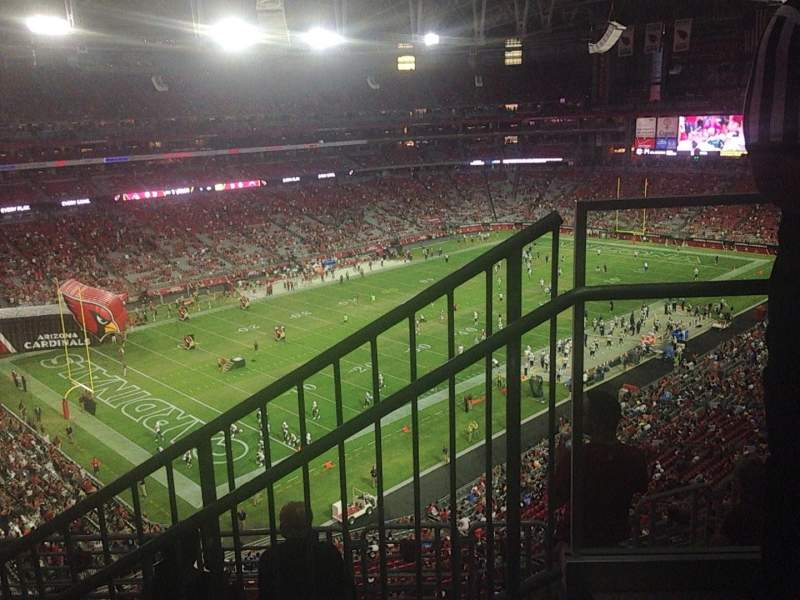 Seating view for University of Phoenix Stadium Section 452 Row 1 Seat 1