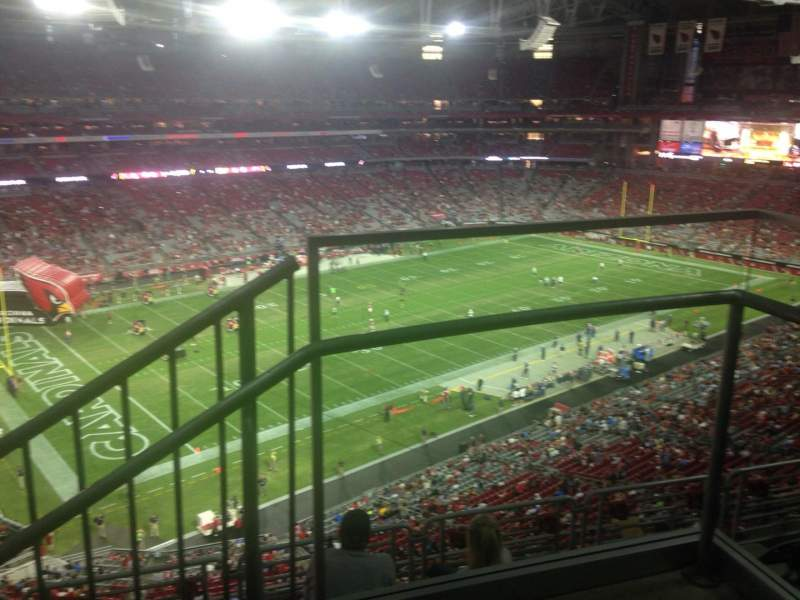 Seating view for University of Phoenix Stadium Section 451 Row 1 Seat 1