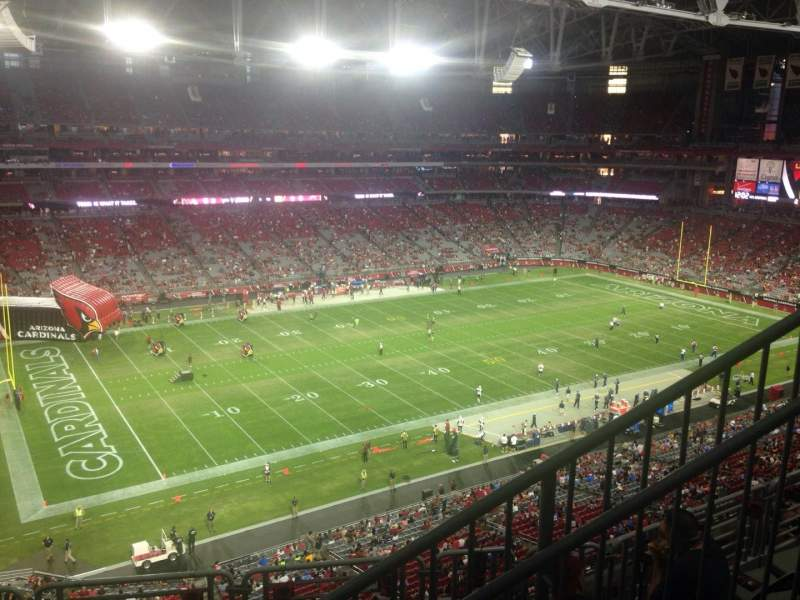 Seating view for University of Phoenix Stadium Section 450 Row 1 Seat 4