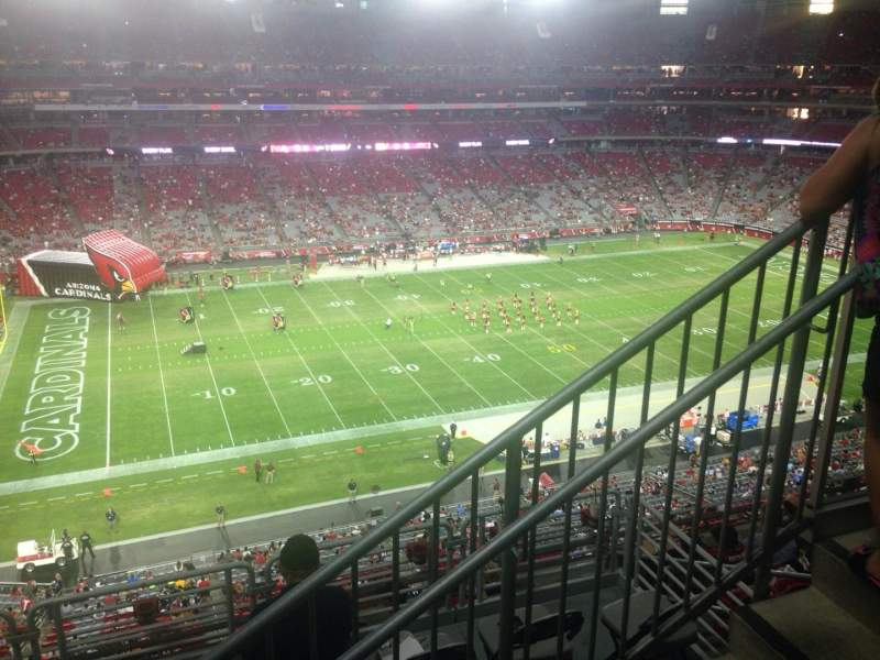 Seating view for University of Phoenix Stadium Section 448 Row 1 Seat 1