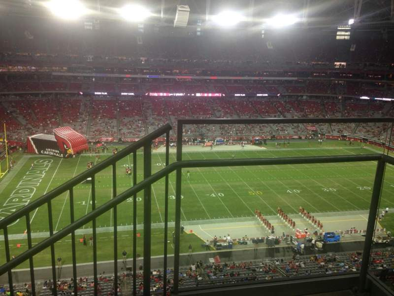 Seating view for University of Phoenix Stadium Section 447 Row 1 Seat 1