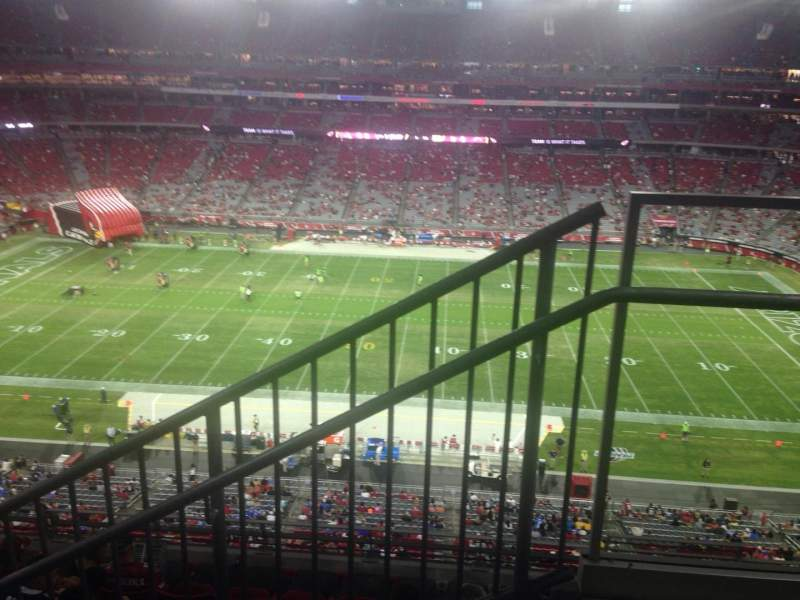 Seating view for University of Phoenix Stadium Section 446 Row 2 Seat 1