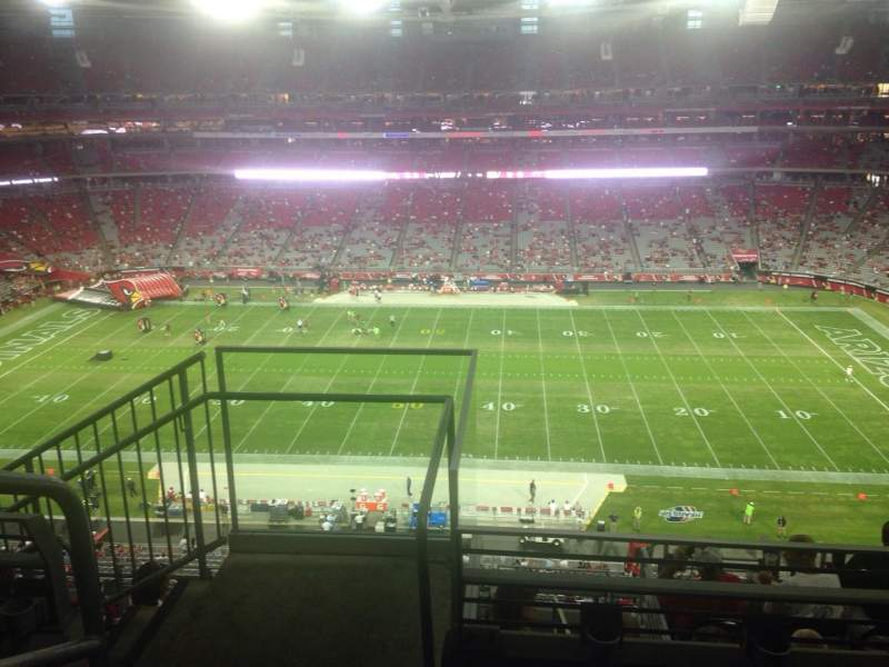 Seating view for University of Phoenix Stadium Section 445 Row 1 Seat 1