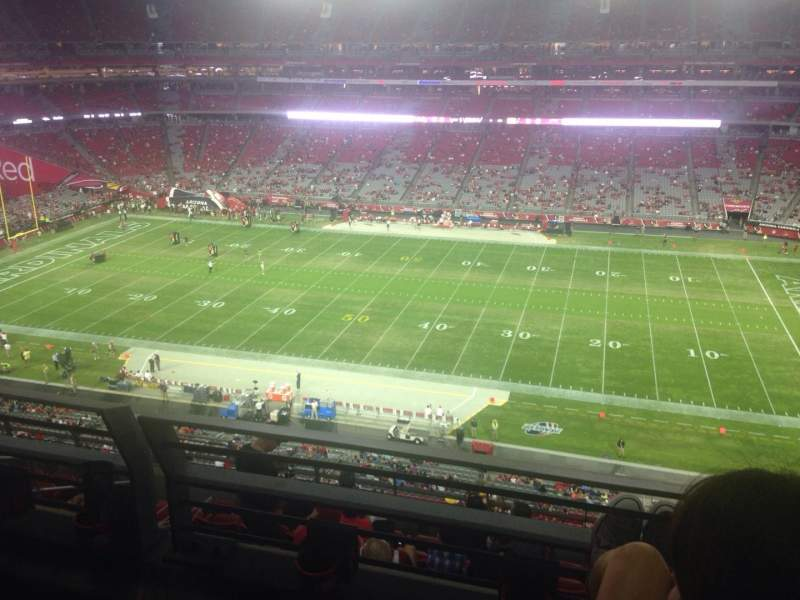 Seating view for University of Phoenix Stadium Section 444 Row 1 Seat 1