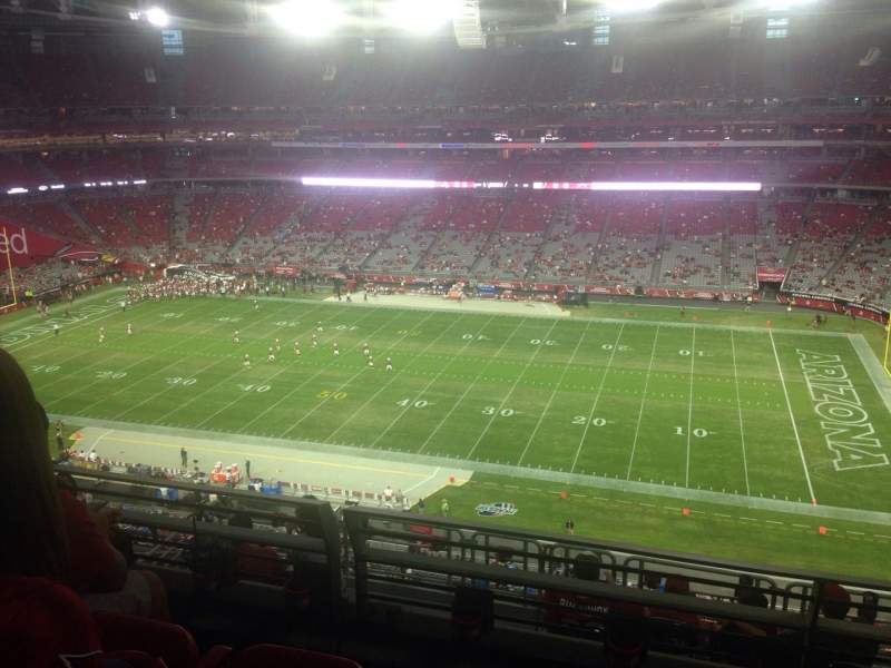 Seating view for University of Phoenix Stadium Section 443 Row 1 Seat 1