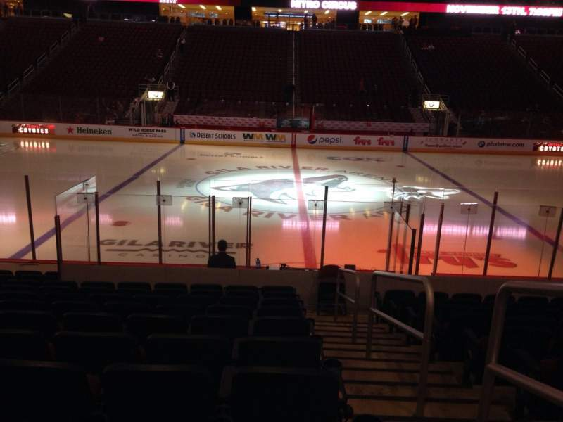 Seating view for Gila River Arena Section 112 Row L Seat 1
