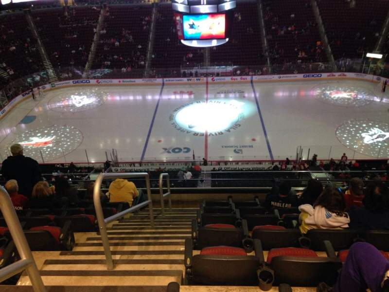 Seating view for Gila River Arena Section 230 Row H Seat 21