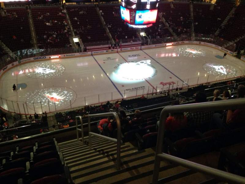 Seating view for Gila River Arena Section 218 Row H Seat 1