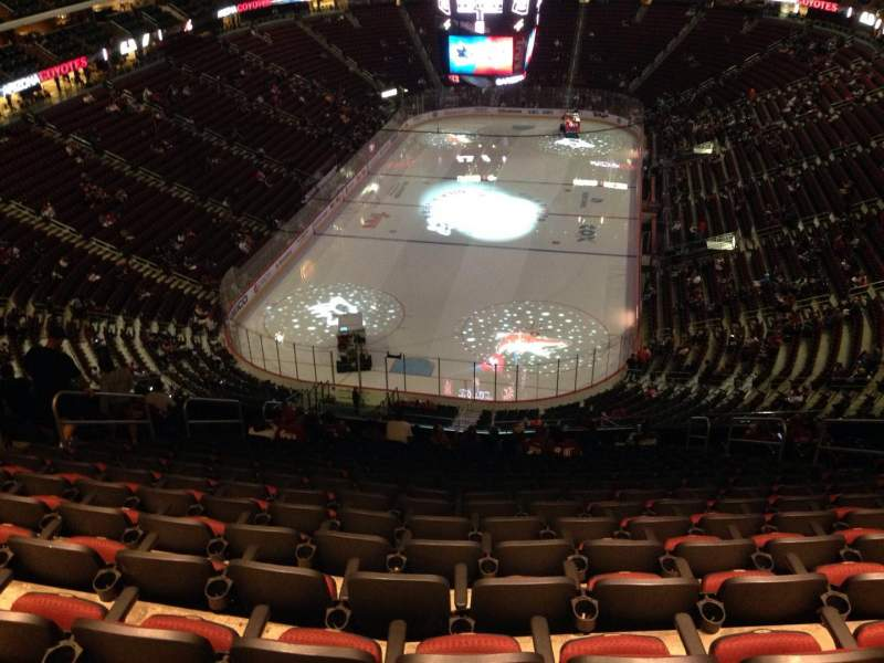 Seating view for Gila River Arena Section 207 Row Q Seat 1