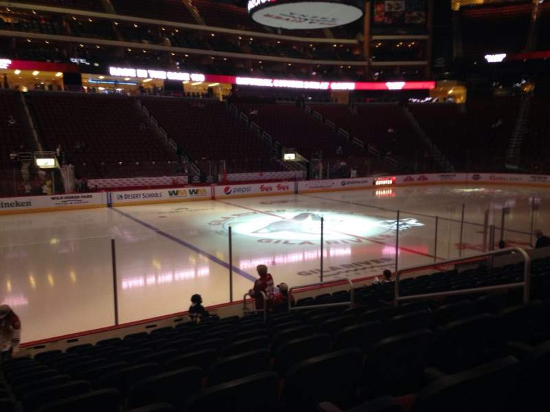 Seating view for Gila River Arena Section 113 Row L Seat 10