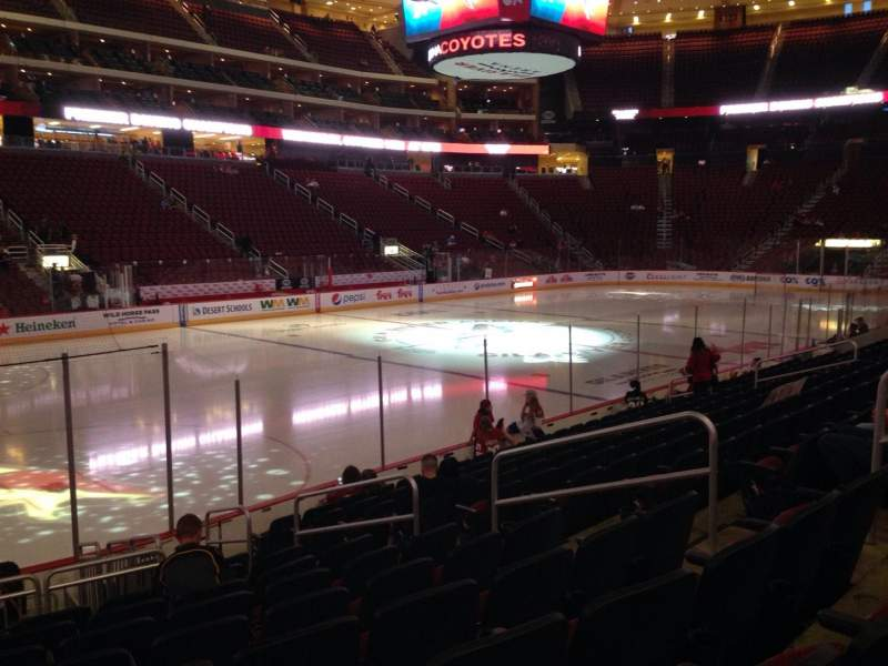 Seating view for Gila River Arena Section 114 Row L Seat 9