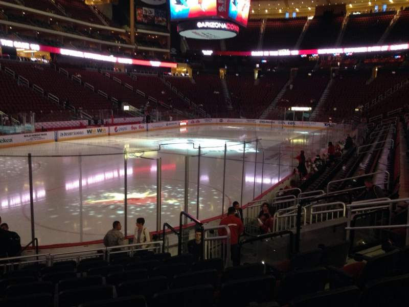 Seating view for Gila River Arena Section 115 Row L Seat 9