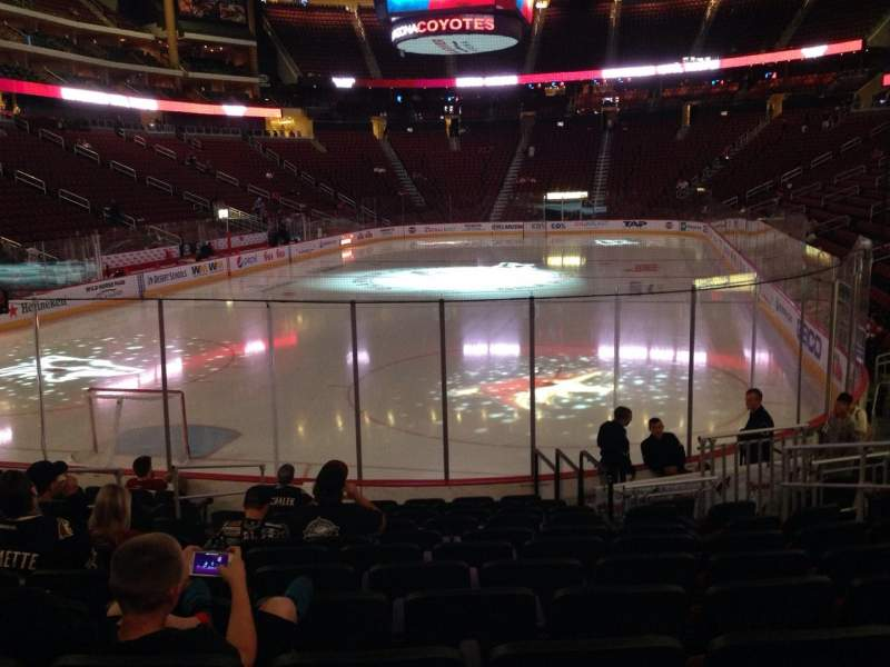 Seating view for Gila River Arena Section 116 Row L Seat 9