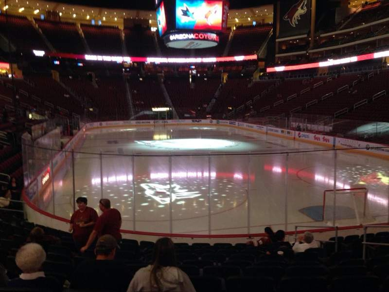 Seating view for Gila River Arena Section 118 Row L Seat 9