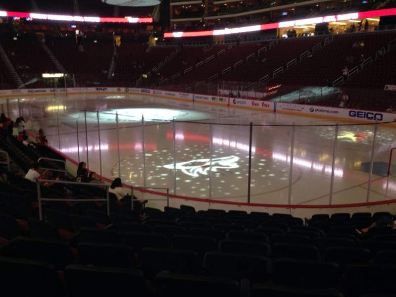 Seating view for Gila River Arena Section 119 Row L Seat 9