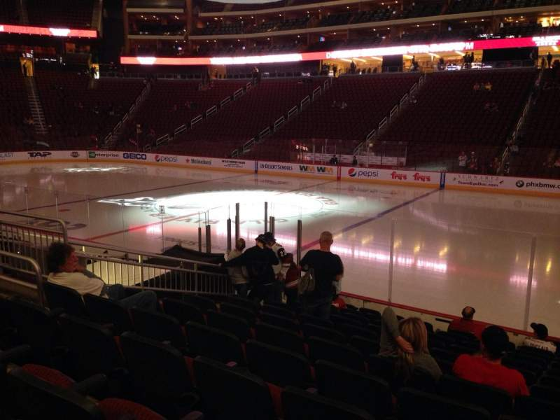 Seating view for Gila River Arena Section 121 Row L Seat 9