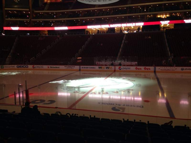 Seating view for Gila River Arena Section 122 Row L Seat 9