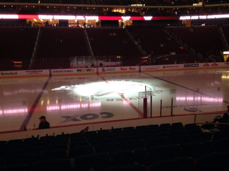 Seating view for Gila River Arena Section 101 Row L Seat 9