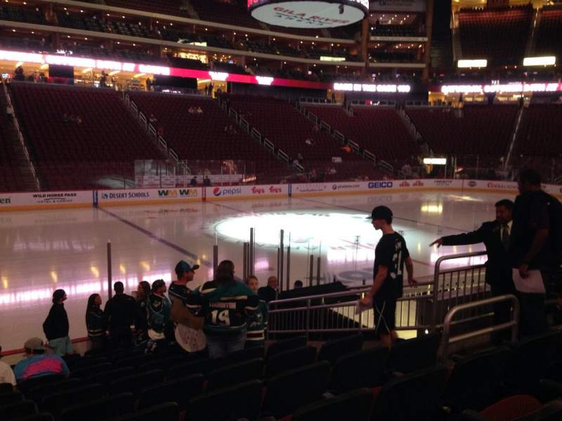 Seating view for Gila River Arena Section 102 Row L Seat 9