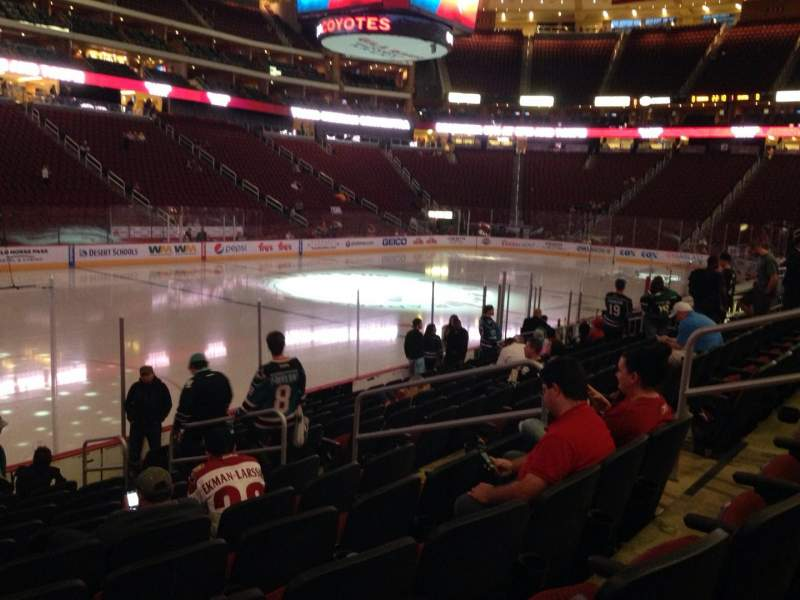 Seating view for Gila River Arena Section 103 Row L Seat 9
