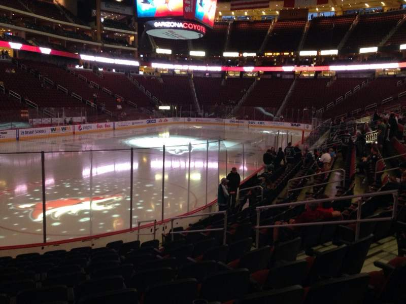 Seating view for Gila River Arena Section 104 Row L Seat 9