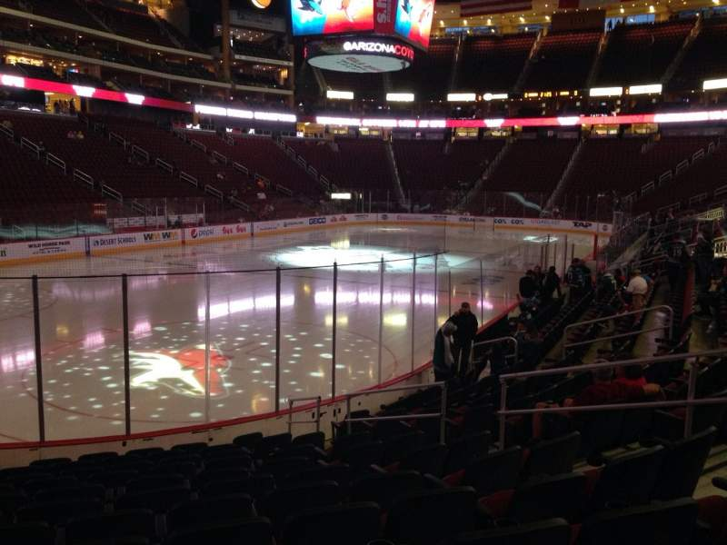 Seating view for Gila River Arena Section 104 Row L Seat 8