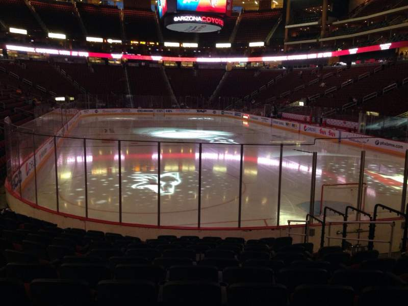 Seating view for Gila River Arena Section 107 Row L Seat 13