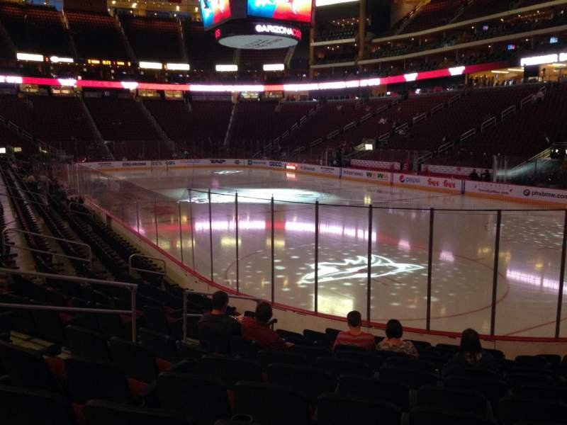 Seating view for Gila River Arena Section 108 Row L Seat 9