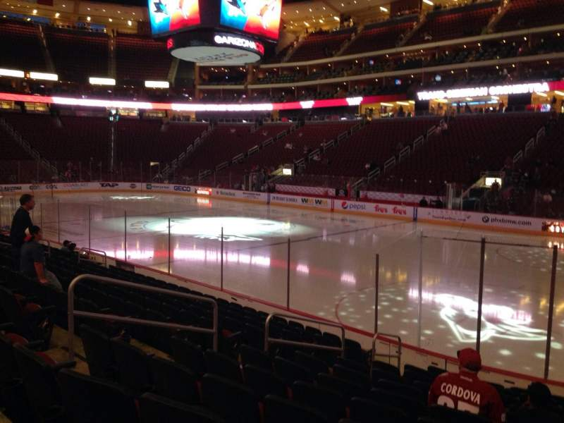 Seating view for Gila River Arena Section 109 Row L Seat 9