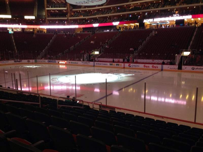 Seating view for Gila River Arena Section 110 Row L Seat 9