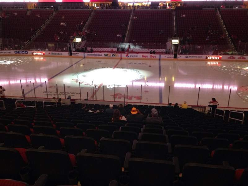 Seating view for Gila River Arena Section 111 Row L Seat 9