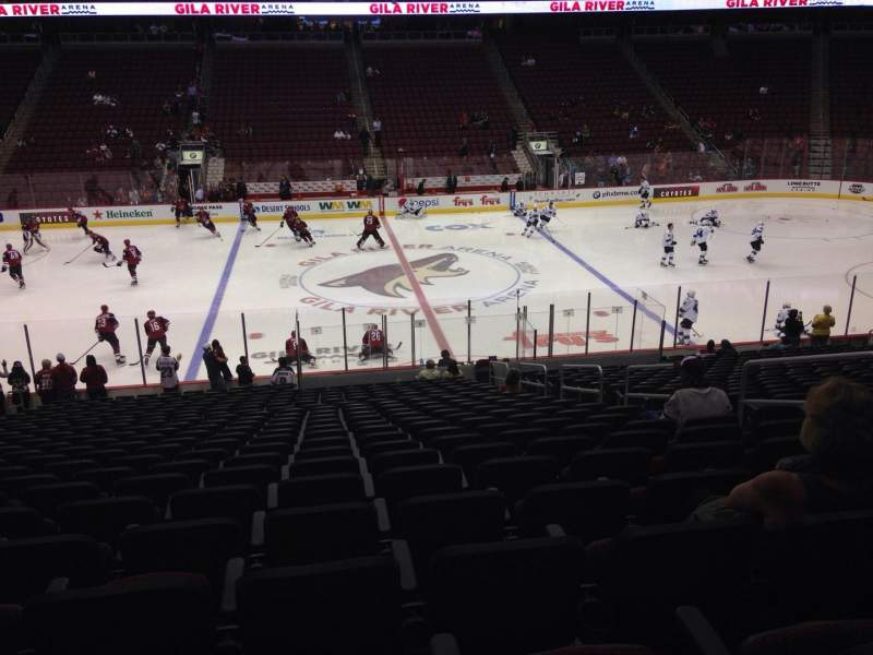 Seating view for Gila River Arena Section 112 Row L Seat 9