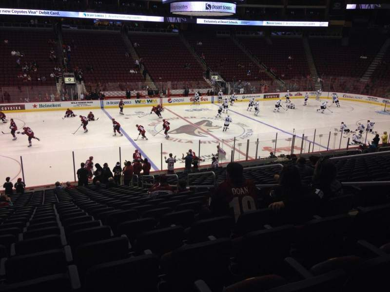Seating view for Gila River Arena Section 113 Row L Seat 9