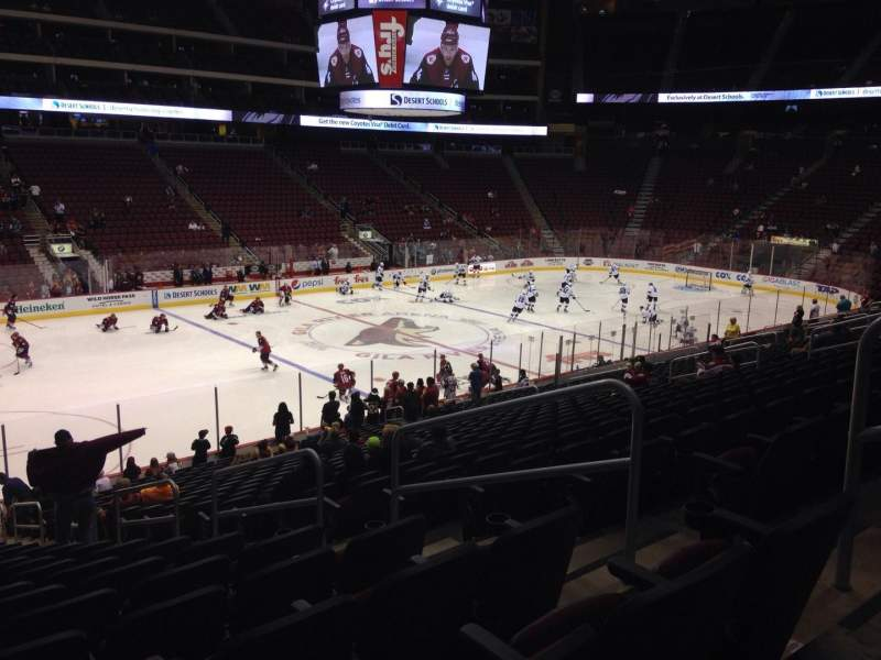 Seating view for Gila River Arena Section 114 Row T Seat 5