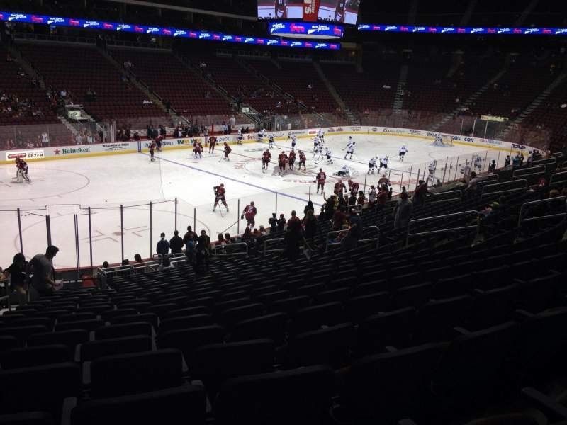 Seating view for Gila River Arena Section 114 Row T Seat 22