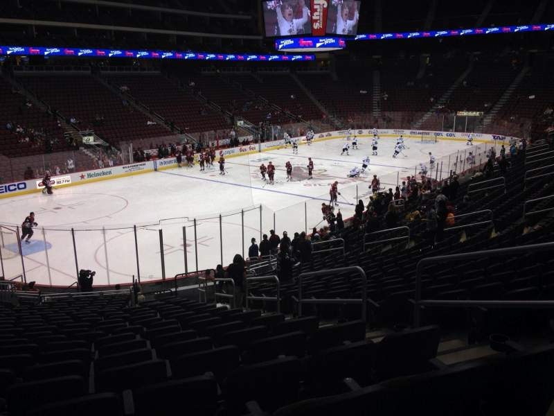 Seating view for Gila River Arena Section 115 Row T Seat 5