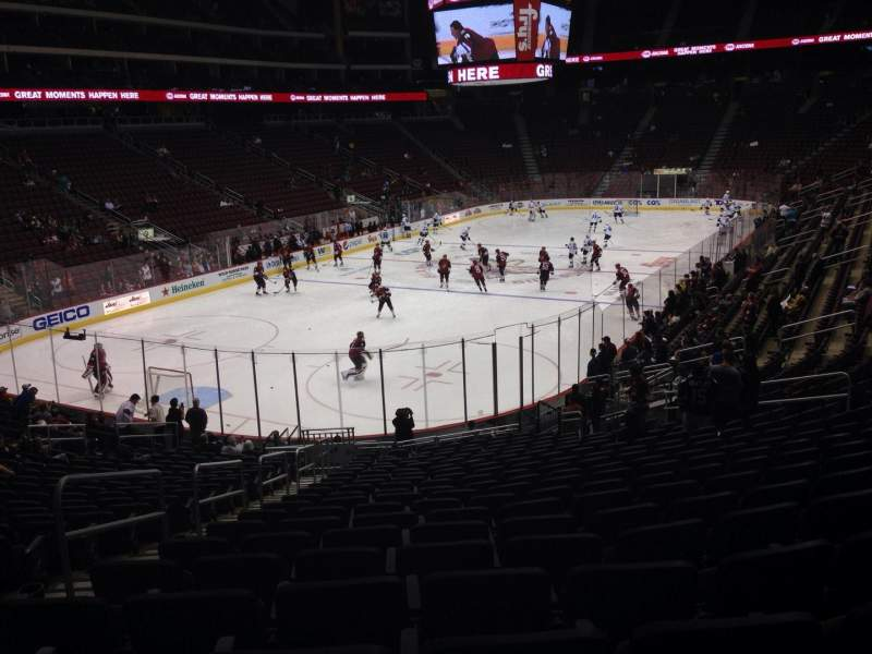 Seating view for Gila River Arena Section 115 Row T Seat 22
