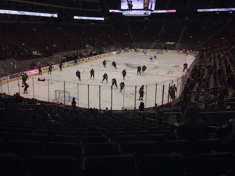 Seating view for Gila River Arena Section 116 Row T Seat 5