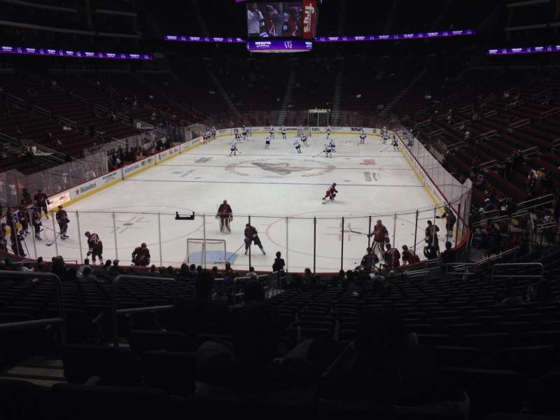 Seating view for Gila River Arena Section 116 Row T Seat 22