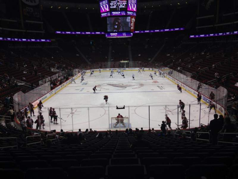 Seating view for Gila River Arena Section 117 Row T Seat 5